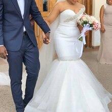 Женское свадебное платье с юбкой годе элегантное невесты круглым