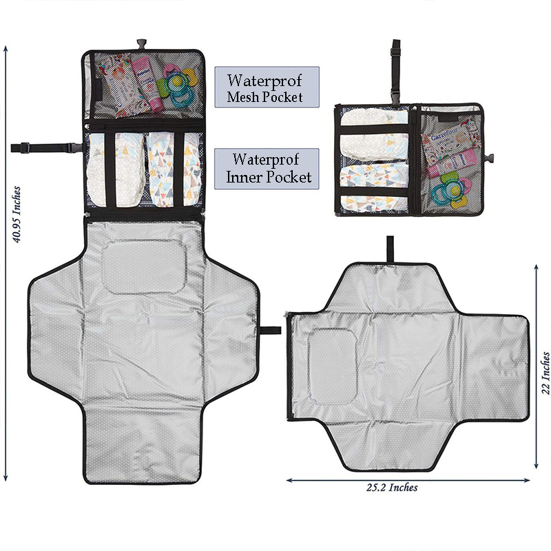Baby-Diaper-Pad-Newborns-Foldable-Waterproof-Changing-Pad-Diaper-Portable-Baby-Diaper-Cover-Mat-Clean-Hand