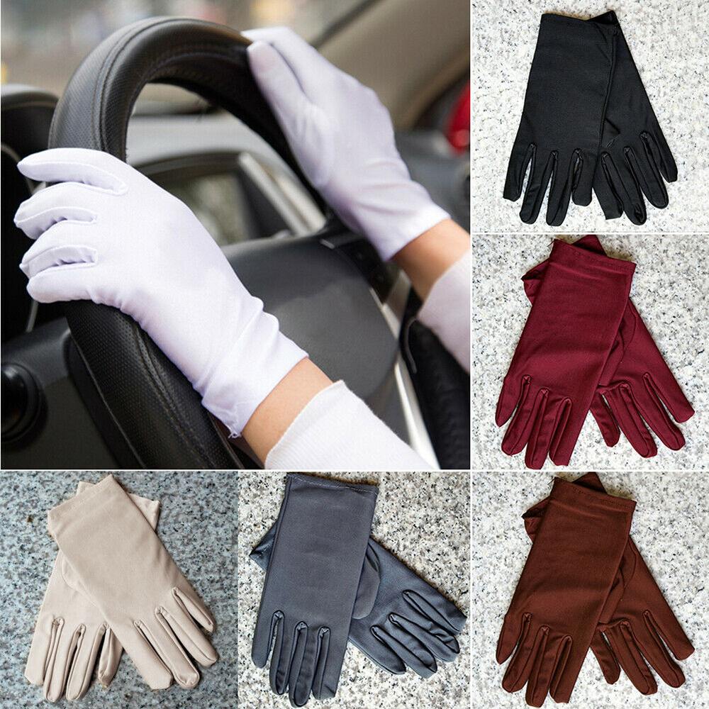 Summer Women Sun UV Protection Outdoor Solid Color Cotton Driving Gloves Gift Female Elegant Sunscreen Gloves