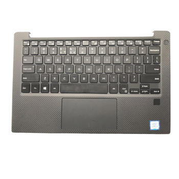 95% New topcase Palmrest Upper Cover with English Keyboard For Dell XPS13 9350 9360