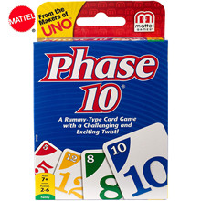Board-Game-Card Paying Uno-Phase Family Party-Toy Fun 10-Kartenspiel Multiplayer Designs