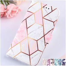 Marble Painted Wallet Case For Box Apple iPhone 12 11 Pro SE 2020 XR XS Max 6 6S 7 8 Plus Man Lady Phone Cover Holster Mini P03G