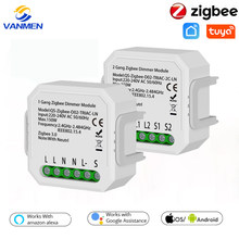 Tuya Zigbee Smart Switch Dimmer Modul 110-240V Home Automation modul Voice Control Arbeit Mit Google Home/alexa/Siri