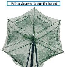 Automatic Fishing Net Folding Shrimp Cage Nylon Foldable Crab Fish Trap Cast Mesh ED889