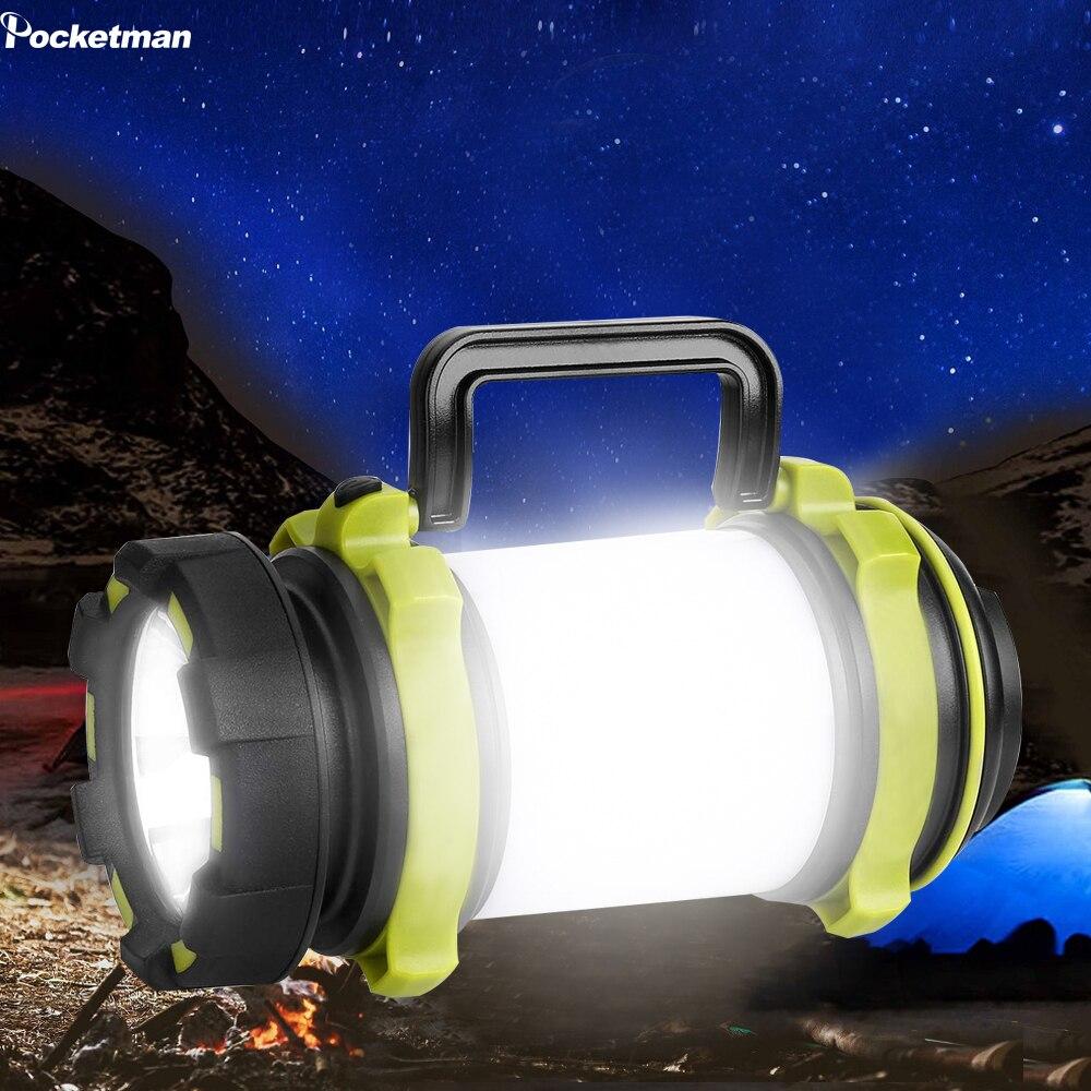 LED kamp feneri USB şarj edilebilir el feneri fener kasırga acil yürüyüş balıkçılık pil ile