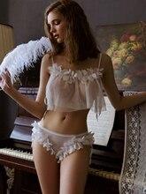 Пикантная женская пижама, летняя тонкая прозрачная домашняя пижама принцессы с открытой спиной, комплект из 2 предметов, Пижама для женщин, сексуальное нижнее белье