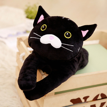 1pc 35cm Cute Black Cat Plush Toys for Kids Stuffed Cartoon Animal Doll Simulation Toys for Children Soft Pillow Gift super cute 1pc 35cm cartoon creative banana sweet cat plush doll stuffed toy children valentine s day gift