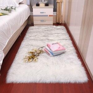 Fur floor rug for carpet
