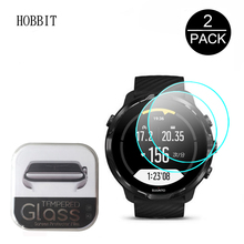 2Pcs Clear Tempered Glass For SUUNTO 7 SUUNTO7 SmartWatch Screen Protector 2.5D 9H Anti-Scratch High Definition Glass