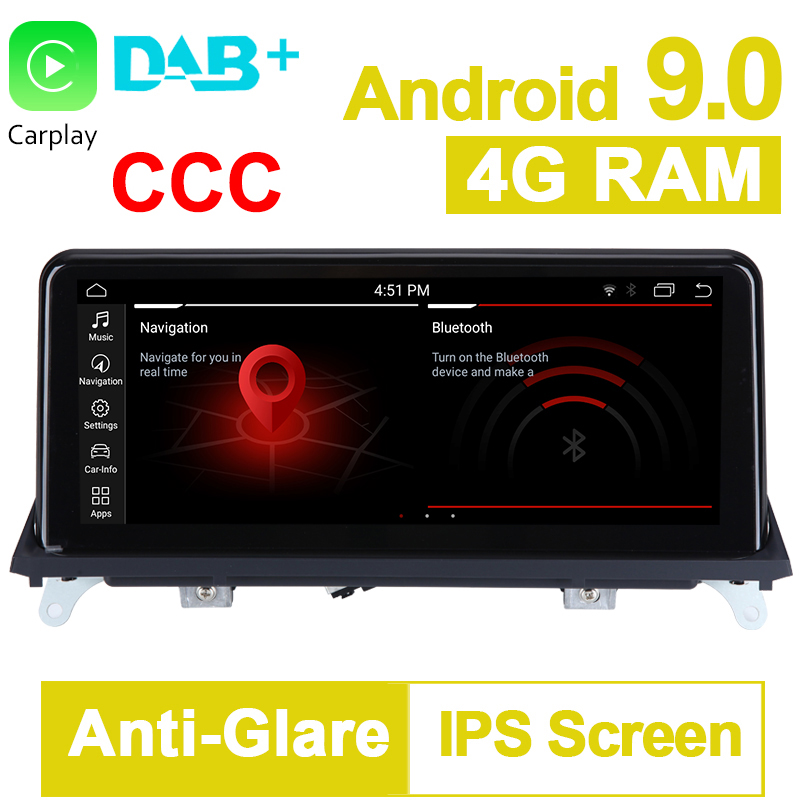 <font><b>10.25</b></font> inch 8 Core 32G ROM Android 9.0 System Car GPS Navigation Media Stereo Radio For <font><b>BMW</b></font> X5 <font><b>E70</b></font> X6 E71 2007- 2010 CCC System image