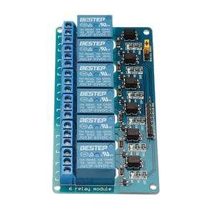 Image 5 - Módulo optoacoplador de relé de 6 canales, 3,3 V, aislamiento activo bajo paso para Arduino