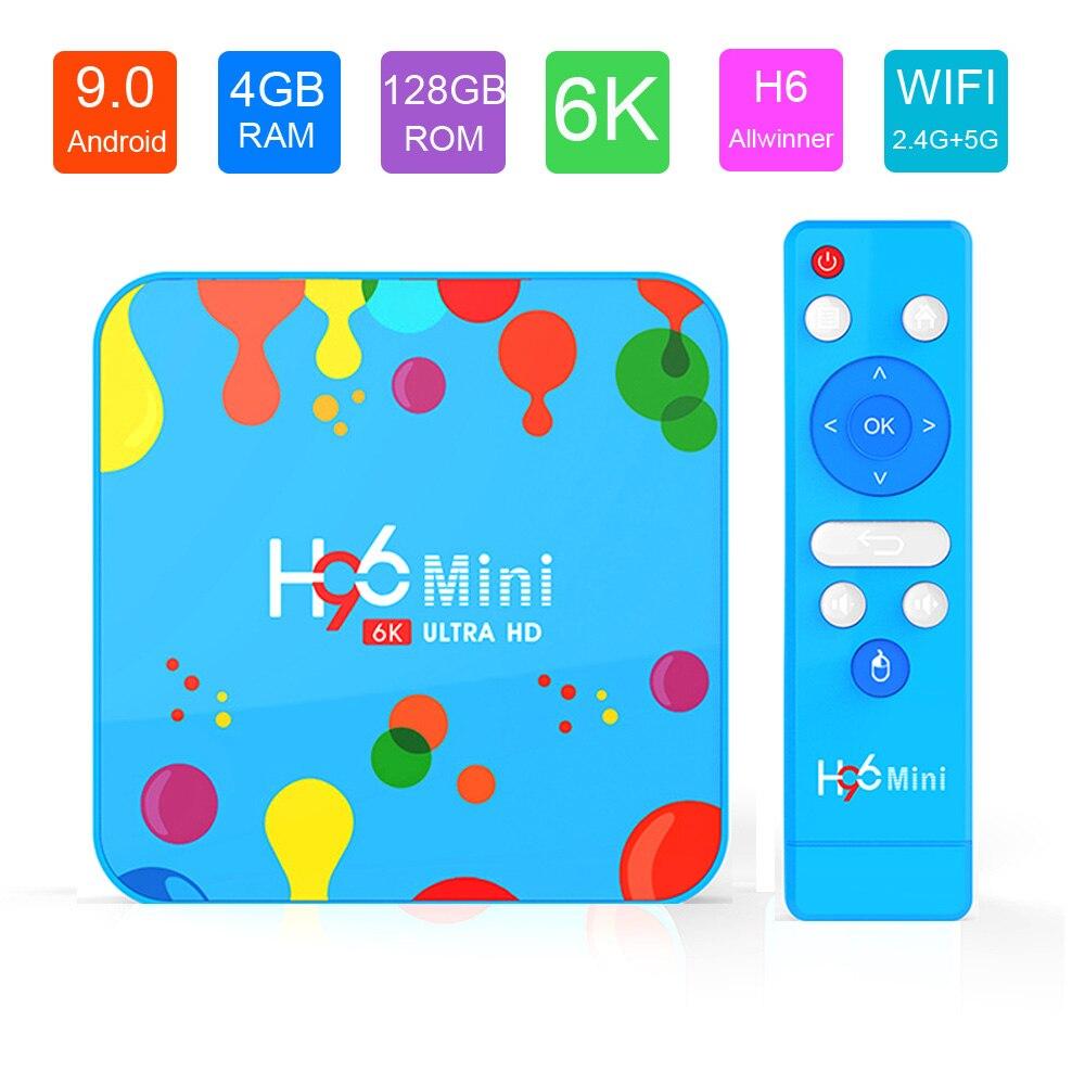 4GB RAM 128GB ROM Smart TV Box H96 Mini Android 9.0 OS Allwinner H6 Quad Core 2.4G & 5G Wifi 32GB H96Mini lecteur multimédia Youtube