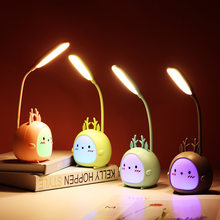 LED Tisch Lampe USB Aufladbare Schreibtisch Lampe Drei-geschwindigkeit Dimmen Nette Schlafsaal Lesen Lampe Augenschutz Schlafz
