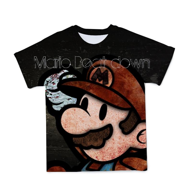 夏2021新漫画少年子供マリオアニメtシャツガール子供の服かわいいカジュアル通気性o-ネックtシャツ4t-14t