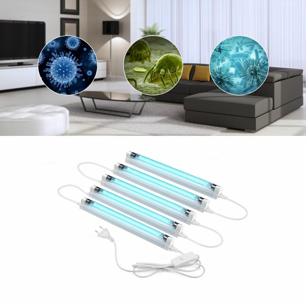 T5 8W 6W LED UV Quartz Lamp UV-C Ultraviolet Lamp UVC Germicidal Sterilizer Light 110V 220V Ozone Deodor Eliminator Tube