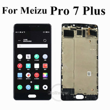 купить AMOLED LCD 5.7 inch For Meizu Pro 7 Plus LCD Display Screen Touch Panel Digitizer Assembly With Frame For Meizu Pro7 Plus LCD по цене 6856.36 рублей