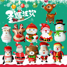 цена на Christmas Balloons Christmas Aluminum Foil Balloon Santa Claus Christmas Elk Snowman Penguin Decoration Balloon