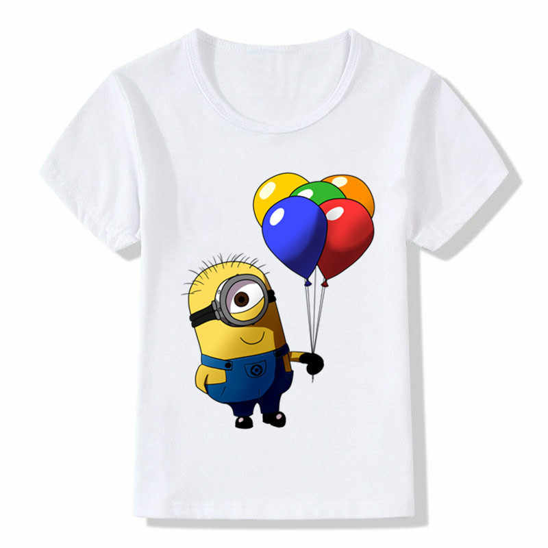 Minions Kid's T Shirt Boys/Girls Summer Short Sleeve Funny Graphic Printed Kawaii Top Tee Shirt Children Tshirt Clothes,bal008