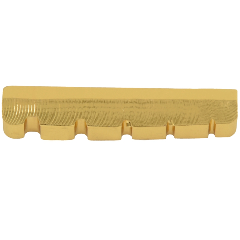 NEW-5 <font><b>String</b></font> Slotted Brass Gold Palted Electric <font><b>Bass</b></font> Guitar <font><b>Bridge</b></font> Nut 45.2*6*<font><b>8</b></font>/<font><b>8</b></font>.9mm image