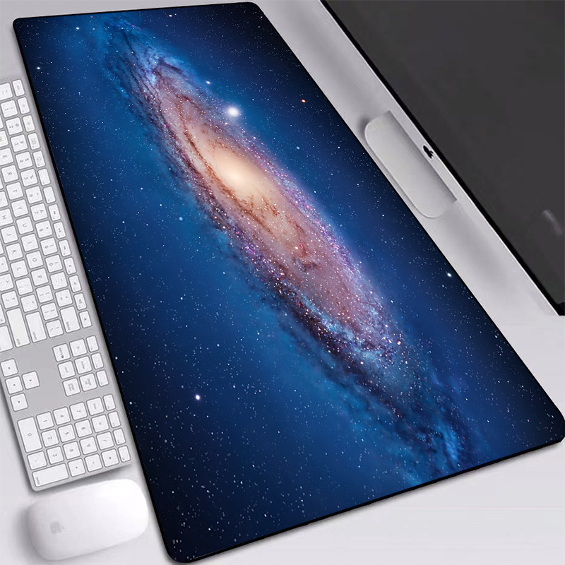 Permalink to Large Mouse Pad 700×400/800×400/900x400mm Space Galaxy HD Wallpaper Desk Mat Computer Accessories Mats Gaming Mouse Pad