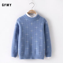 GFMY Autumn Winter  Fashion Dot Printing Water velvet O-Collar Suitable For Boys and Girls Baby Warm Coat Kids Sweaters
