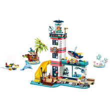 Girl Toys Lighthouse with Floodlight Compatible Lepining Friends 41380 Building Blocks Figure Bricks Christmas for Children Gift bela friends 3189 girl mia farm stables building bricks blocks set gift toys for children compatible with lepine friends
