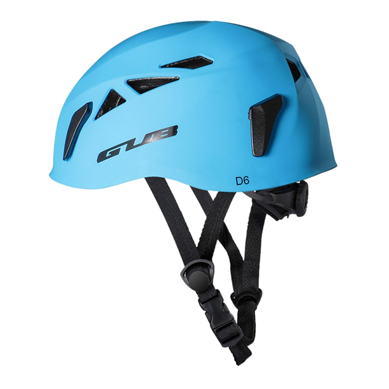 GUB D6 ABS outdoor expansion Caving rescue mountain bike helmet descent helmet helmet safety equipment climbing equipment(blue)