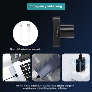 Image 4 - Smart Keyless Fingerprint Cabinet Lock Biometric Electric Lock Fingerprint Drawer Lock for Office Drawer File Cabinet Black