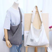 Fabric Cloth Shoulder Bag Casual Students Schoolbag Books Satchel Tutorial Bag Shopping Tote Canvas Handbag Eco Shopper Bag