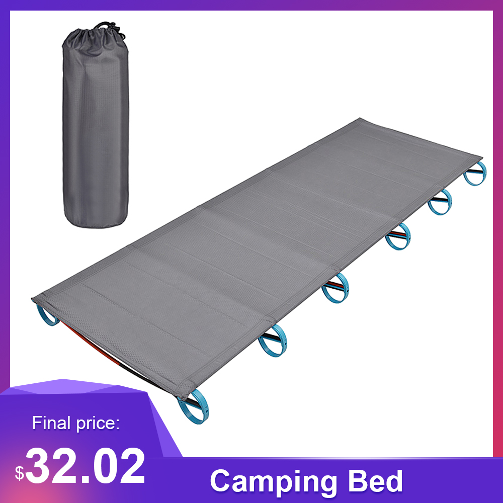 - Ultralight Folding Single Camping Bed Travel Cot Tent Bed