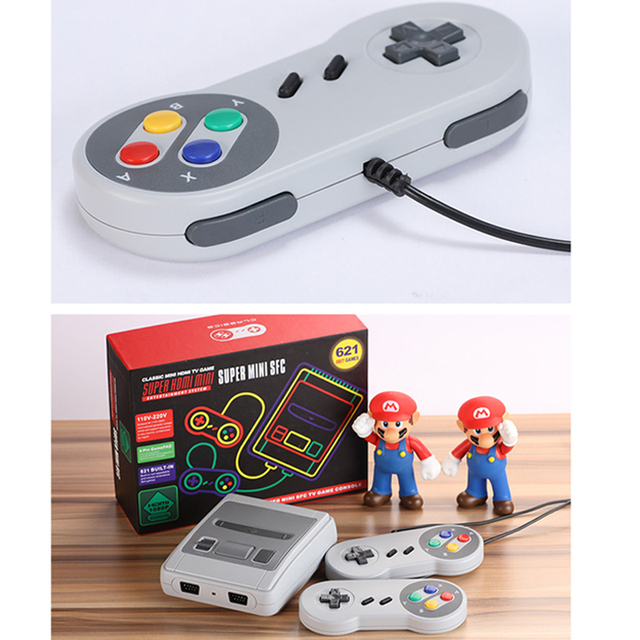 Intégré 621 jeux classique Super HDMI Mini Console de jeu HD 4K sortie TV lecteur de jeu portable famille TV SNES rétro jeu