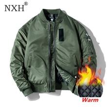 NXH Klassische Ma1 Bomber jacke Männer Plus größe Flug Pilot Baseball jacken Männlichen Militär Mantel Paar Streetwear veste homme