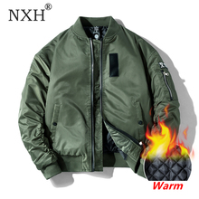 NXH קלאסי Ma1 מפציץ מעיל גברים בתוספת גודל טיסה טייס בייסבול מעילי זכר צבאי מעיל זוג Streetwear veste homme