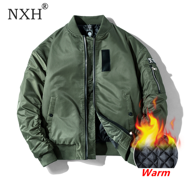 NXH الكلاسيكية Ma1 مفجر سترة الرجال حجم كبير الطيران الطيار سترات للعبة البيسبول الذكور معطف العسكرية زوجين الشارع الشهير veste أوم