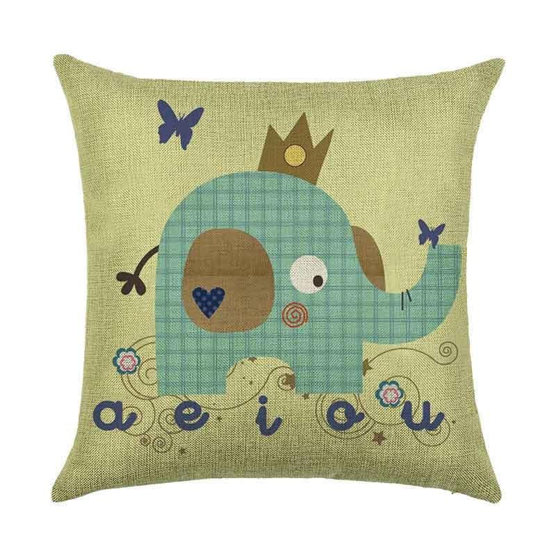Pillow Cushion Cover Case 45x45cm Elephant Home Decoration Durable For Sofa Car Office THIN889