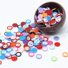 200pcs/boxes of color round plastic buckle childrens clothing 11MM button resin sweater decorative buttons