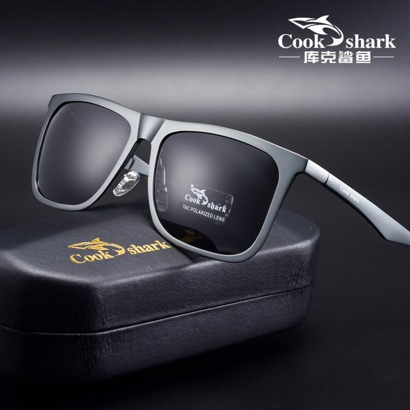 Мужские и женские солнцезащитные очки Cook Shark, поляризационные хипстерские очки для вождения в Корейском стиле, 2020|Мужские солнцезащитные очки|   | АлиЭкспресс