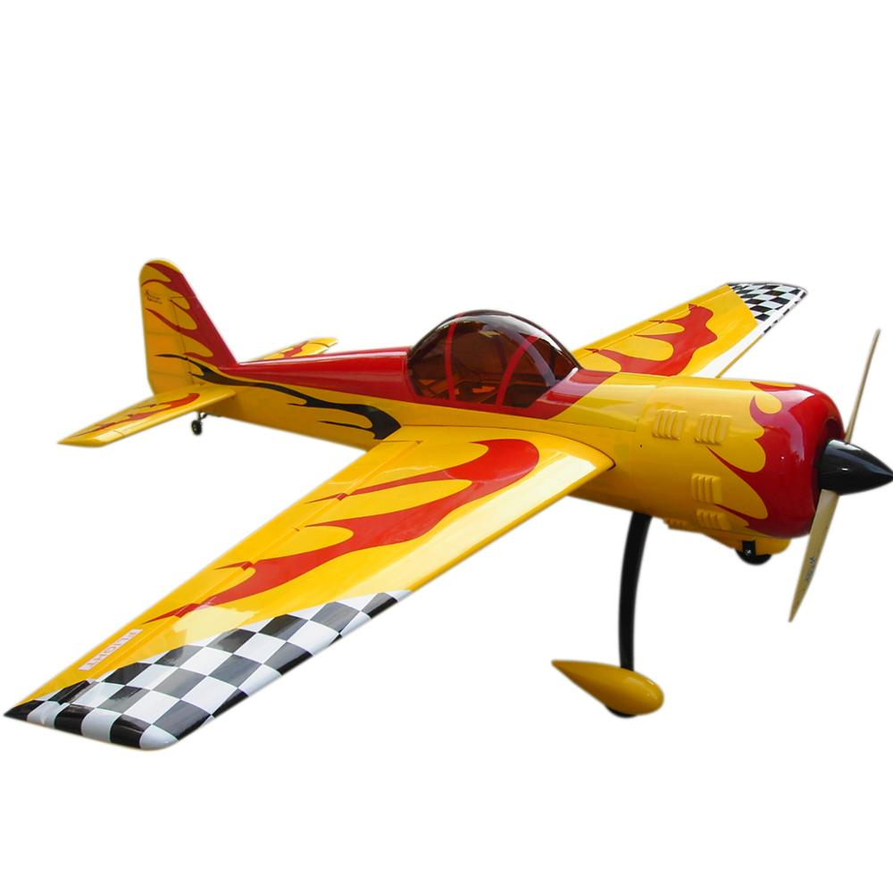 FLIGHT YAK55 86.6inch 50cc 6 Channel RC Gasoline Airplane Fix-Wing Aircraft Model Yellow image