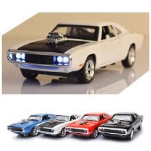 Hot 1:32 Diecast Metal Car Model Toys The Fast Sound and Light Pull Back Vehicle Toy Car Model for Children Gift 4 Colors 1 43 a3 sportback suv high end metal model car diecast vehicle parts van several colors