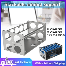 Stackable Open Mining Rig Frame  ETH/ETC/ZEC Virtual curreny Accessories Tools for 6/8/12 GPU Crypto Coin Bitcoin Rack Only Case