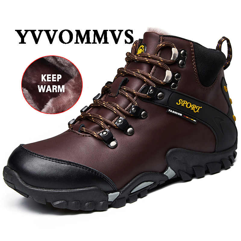 Mannen Nieuwe Winter Tooling Laarzen Slijtvast Antislip Waterdicht Anti-Nail Fashion Casual Mannen laarzen