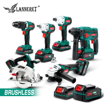 LANNERET Electric Brushless Angle Grinder Cordless Screwdriver Cordless Wrench  20V Battery Grinder 4.0Ah Cordless Angle Grinder