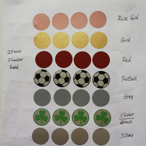 """100PCS 1"""" Inch Round Gold or Silver or red Scratch Off Stickers Labels Tickets Promotional Games Favors(China)"""
