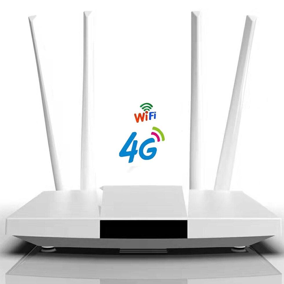 YIZLOAO 4G CPE Unlimit Date Router 4G 3G Wifi Router Wideband 4G Moblie Hotspot Wan/Lan Port Card Slot 4 Antenna 32user