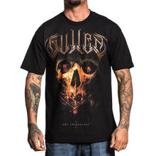 Sullen Men's Jorquera Badge T Shirt Black David Jorquera Tee Clothing Apparel Cheap wholesale tees,100% Cotton For Man(China)