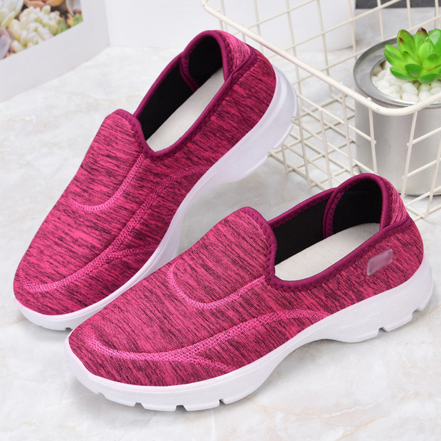 Women Lightweight Casual Shoes Outdoor Breathable Canvas Loafers Shoes Trekking Garden Shoes Flats Pregnant woman 6857
