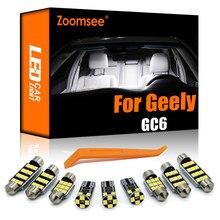 Zoomsee 10Pcs LED interni per Geely GC6 2014 Canbus lampadina per veicoli cupola interna mappa lettura luce del bagagliaio errore Kit lampada automatica gratuita