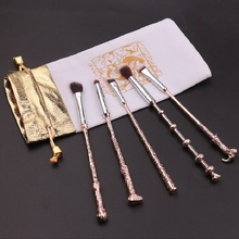 5 pcs/set Harries Magic Wands Potters Makeup Brush Eye Shadow Beauty Cosmetic School Stationery Painting Girls Birthday Gifts