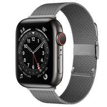 Strap For Apple watch band 44mm 40mm 38mm 42mm 44 mm Metal Magnetic Loop Stainless steel bracelet iWatch 3 4 5 6 se band