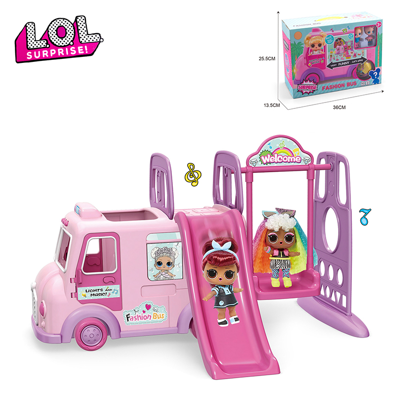 New Lol Surprise Doll Bus Original Toys Car Toy Action Figure Anime Figures Model Collection Diy Birthday Gift For Girl Buy At The Price Of 24 76 In Aliexpress Com Imall Com